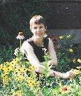 Linda in garden