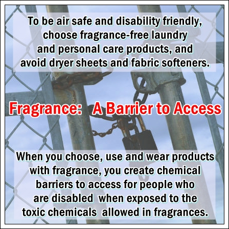 Fragrance a Barrier to Access