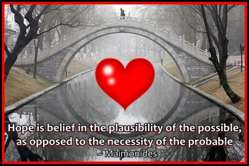 love is the bridge that makes things possible