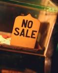 No Sale Sign on Cash Register