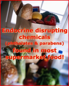 phthalates and parabens are found in almost all supermarket foods that were tested