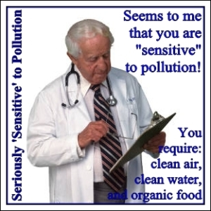 seriously sensitive to pollution