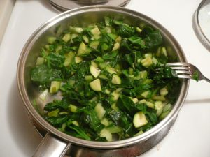 cooking the greens