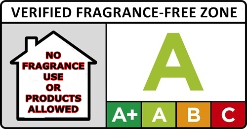 verified fragrance-free zone NO FRAGRANCE