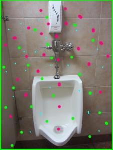 FragrancechemcialEmittingDevice above urinal