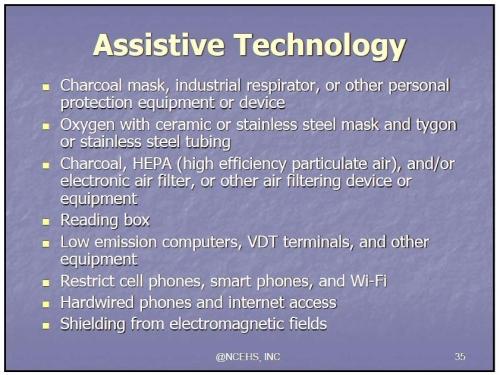 MCS ES assistive technology