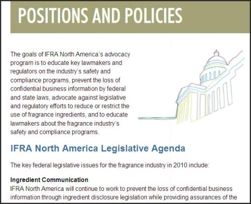 Fragrance Industry agenda