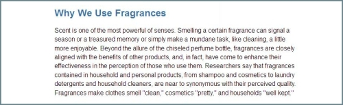 Fragrance Industry why we use