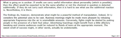 scent marketing manipulation close-up