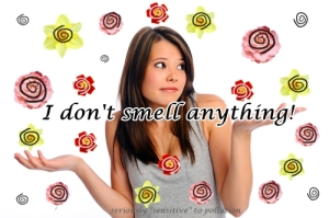 I don't smell anything