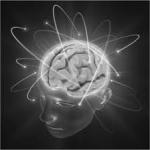 brain in grey