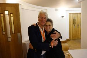 Richard Gere and Roshi Joan Halifax